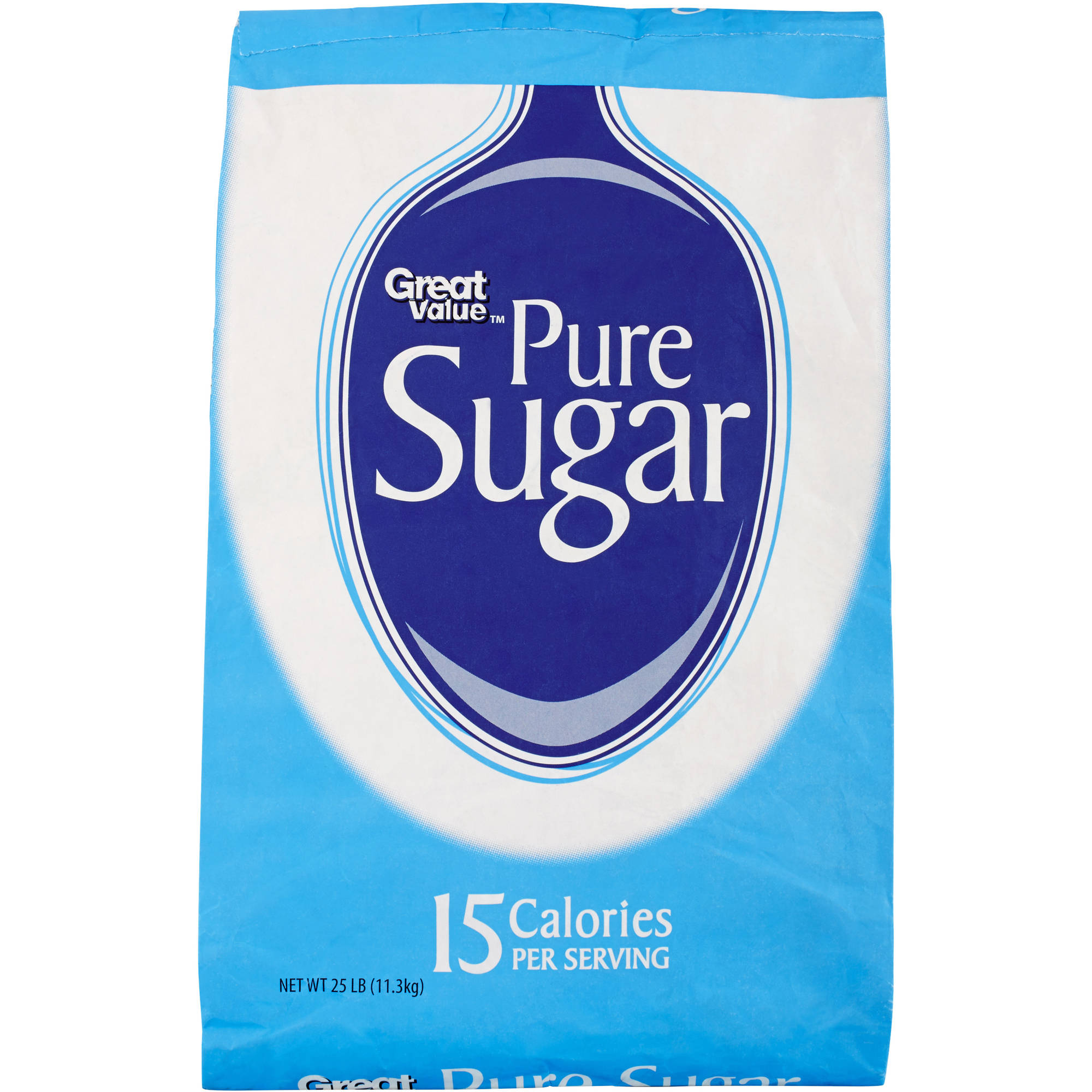 Great Value Pure Sugar, 25 lb