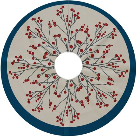 Simply Daisy, 44 Round, Joy, Floral Print Tree Skirt