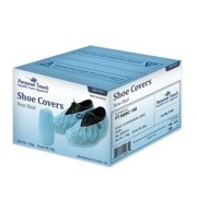 Cleaning Non Slip Machine-made Disposable Shoe Covers with Tread Pattern and Strip on Sole 300 Pieces 150 Pairs