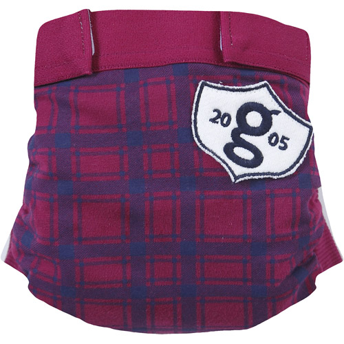 gDiapers gPants Diaper Cover, Grad Plaid (Choose Your Size)
