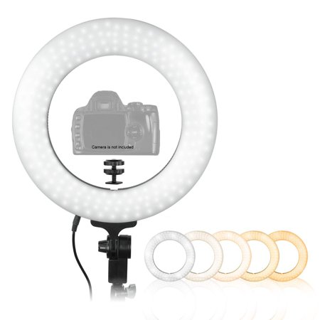 Ring Light Adapter (Loadstone Studio 14-inch LED Ring Light with Camera Mounting Adapter, Soft Light & Color Temperature Control, Beauty Facial, WMLS4521)