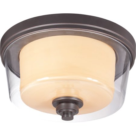 Nuvo Decker 60/4551 2-Light Medium Flush - 13-watt in. - Sudbury Bronze