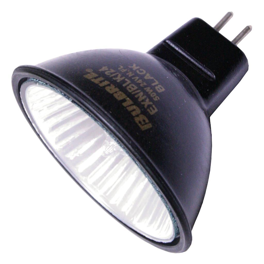Bulbrite Industries Bi-Pin 50W Black 24-Volt Halogen Light Bulb (Set of 4)