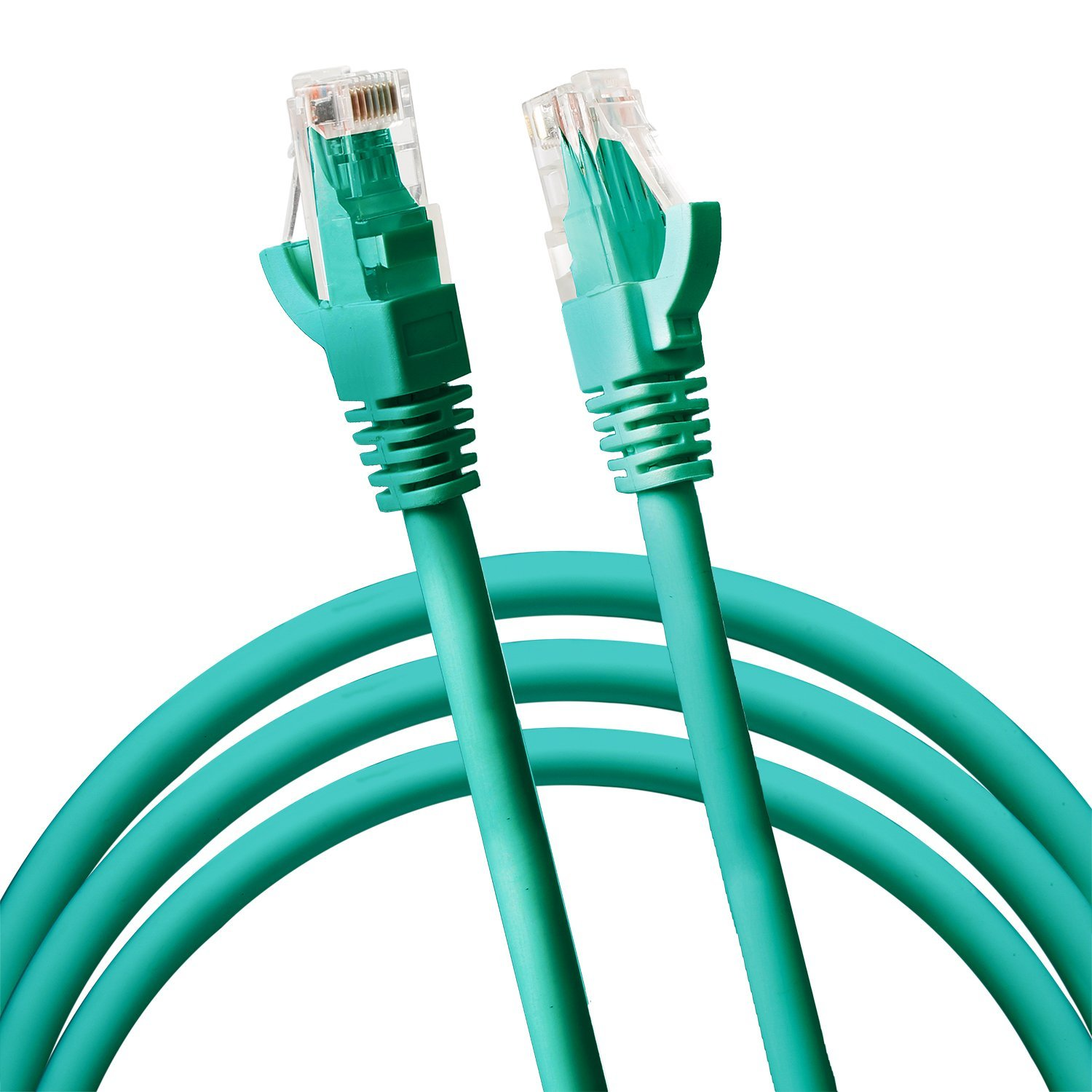 Jumbl Cat6 RJ45 Fast Ethernet Network Cable – 5 Feet Green - Connects Computer to Printer, Router, Switch Box or Local Area Network LAN Networking Cord, no Signal Loss