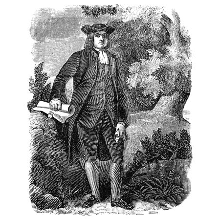 William Penn  1644 1718  Nfounder Of Colony Of Pennsylvania Wood Engraving Early 19Th Century Poster Print By Granger Collection