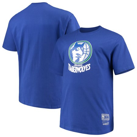 bb1698fc9 Minnesota Timberwolves Mitchell   Ness Big   Tall Hardwood Classics  Throwback Logo T-Shirt - Royal - Walmart.com