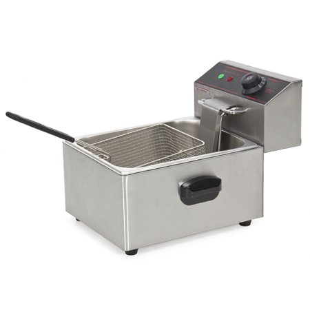 Best Choice Products 2500W Electric Deep Fryer w/ Easy Control Switch, Removable Tank, Basket, Lid, Residue