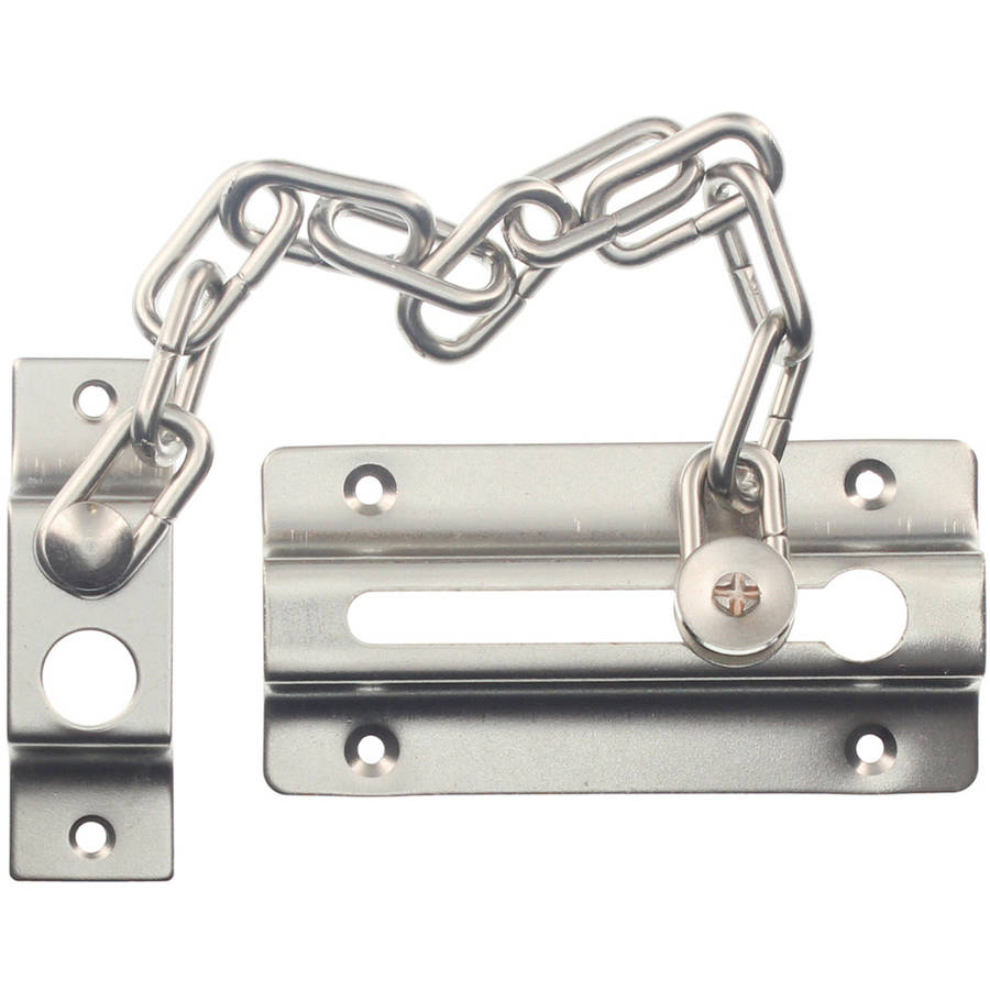 "Ultra Hardware 29021 4"" Satin Nickel Door Guard Chain"