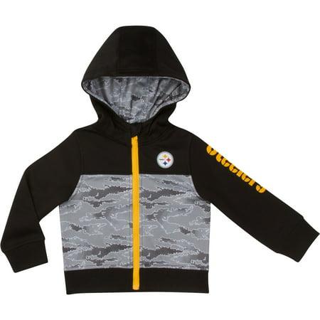 low priced 8ec74 c5410 Toddler Gerber Black/Gray Pittsburgh Steelers Team Full-Zip Hoodie
