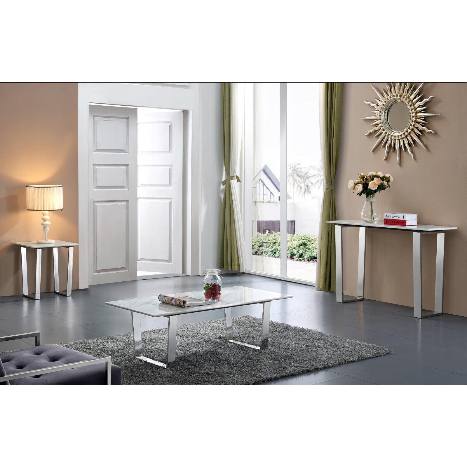Meridian Furniture Inc Carlton Chrome Console Table