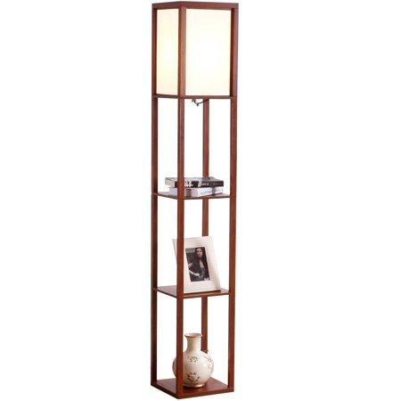 Brightech Maxwell Shelf Floor Lamp Modern Mood Lighting For Your