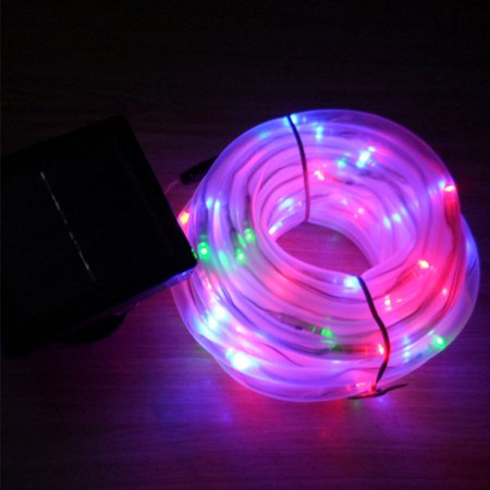 10m 100 LED Solar Power Rope Lights, Waterproof Outdoor String Lights, Daylight White, Warm White Portable, Light Sensor, Decoration for Christmas Tree, Thanksgiving, Wedding, Party, Garden, Lawn, Pat - Portable Party Lights