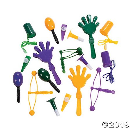 Mardi Gras Noisemaker Assortment](Personalized Noisemakers)