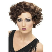 """26"""" Brown 1920 Style Short and Wavy Flapper Women Adult Halloween Bob Wig Costume Accessory - One Size"""