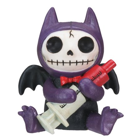 Furrybones Flappy Skeleton Vampire Bat with Syringe Halloween Figurine - Halloween Figurine