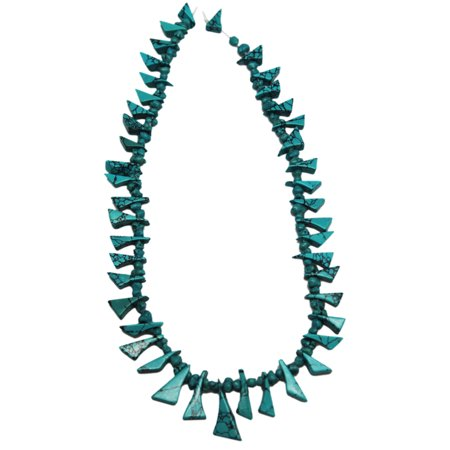 Triangle Wedge & Nugget Turquoise Bead Strand With Black Matrix (130 (Triangle Nugget)