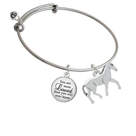 Walking Horse You Are More Loved Bangle Bracelet