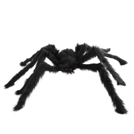 SeasonsTrading Large Hairy Poseable Black Spider - Halloween Decoration - Big Black Halloween Spiders