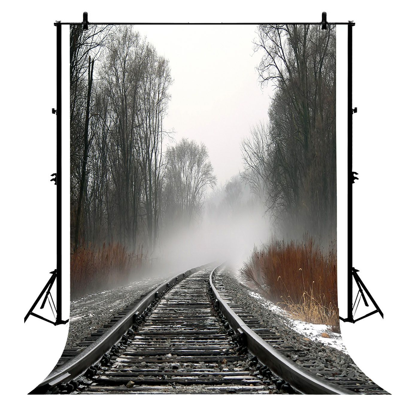 GCKG 7x5ft Train Tracks Polyester Photography Backdrop Photo Background Studio Props - image 4 de 4