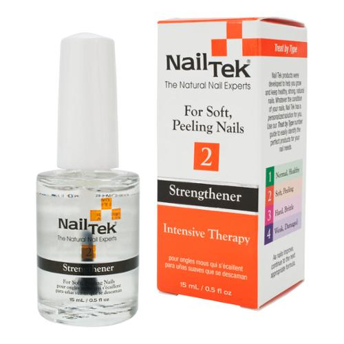 Nail Tek .5oz Intensive Therapy 2 Strengthener for Soft Peeling Nails, CLEAR, 55807