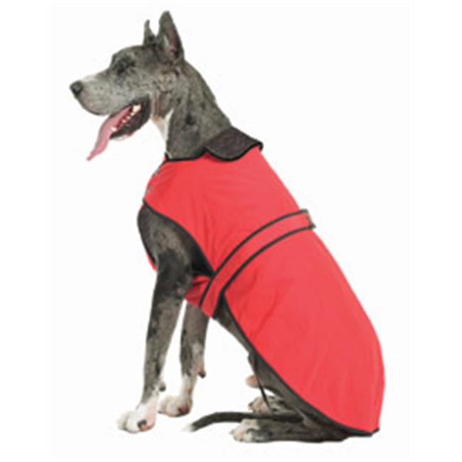 Muttluks BL34R 3-Layer Belted Winter Dog Coat - Size 34, Red