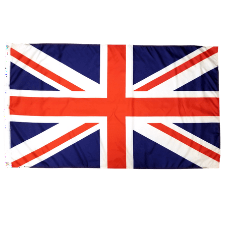 United Kingdom Flag 3x5 British Flag English Flag UK Flag England National Flag Union Jack Flag 3 by 5 Polyester with Brass Grommets for Indoor and Outdoor Use Bright Colors