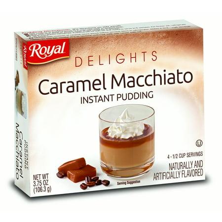 - ROYAL DELIGHTS Instant Pudding, Caramel Macchiato, 3.75 Oz, 12 Ct