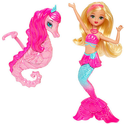 Barbie Pearl Princess Mermaid Doll and Dolphin Pet