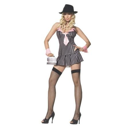 Miss Mafia Costume - Flapper And Gangster Costume