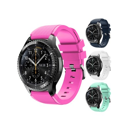 22mm Adjustable Watch Band Replacement Silicone Bracelet Strap Sports Watch Band for Samsung Gear S3 Frontier