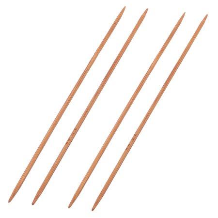Knitting Sewing Needle (Bamboo Sewing Knitting Tatting Hat Socks Golves Needles Brown 2mm Dia)