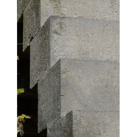 Laminated Poster Rise Stairs Stones Gradually Angular Square Poster Print 11 x (Angular Faces)