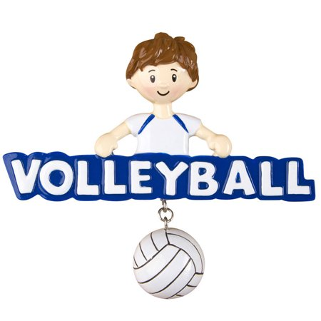 Volleyball Boy Personalized Christmas Ornament - Personalized Volleyball