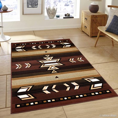 Western Decore (Allstar Dark Brown Woven High Quality Rug. Traditional. Persian. Flower. Western. Design Area Rug (3' 9