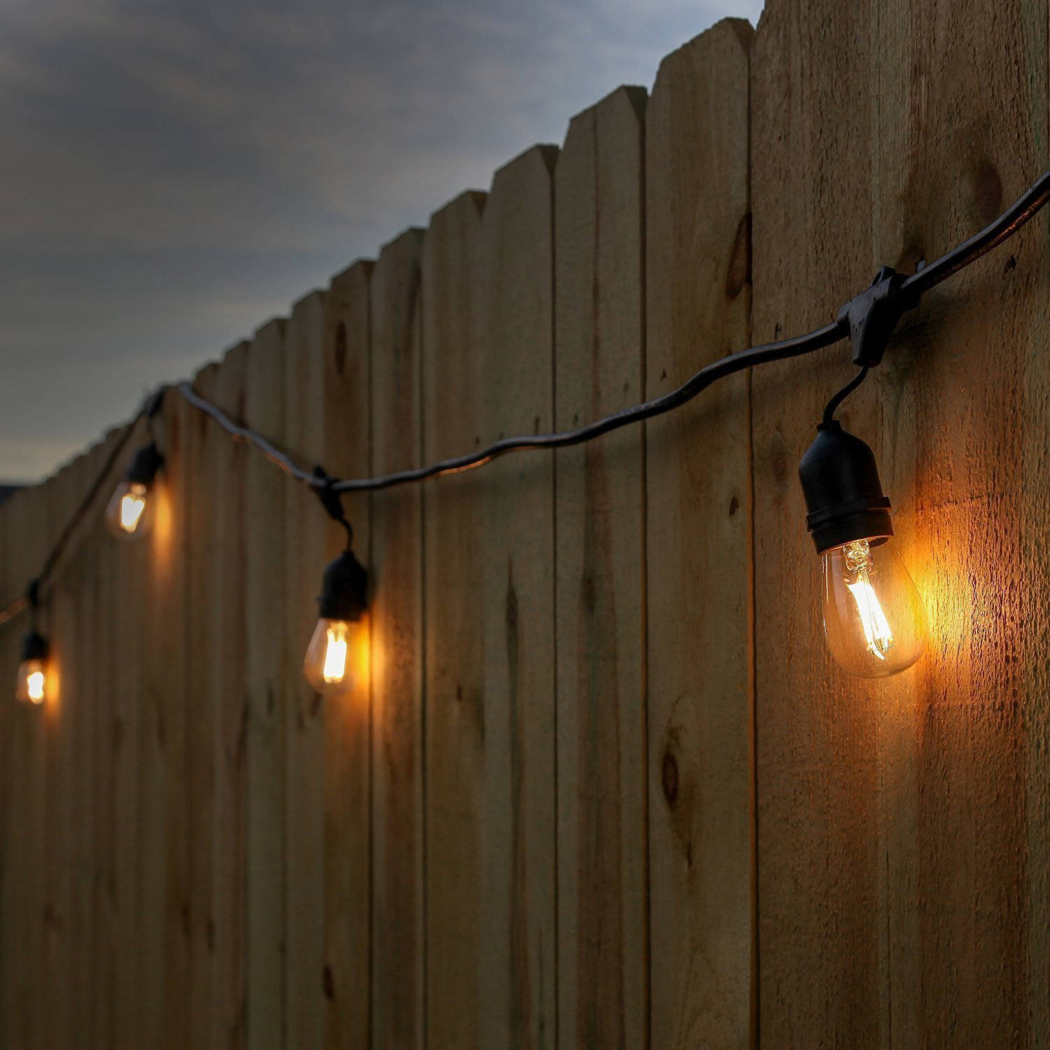 Newhouse Lighting 48 Foot Outdoor String Lights Led Bulbs: See More Hot 100 Lamps Light Fixtures