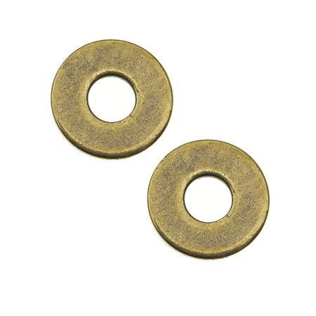 Brass Oxide Finish Micro Washer For Jewelry 6mm - Pack Of 10