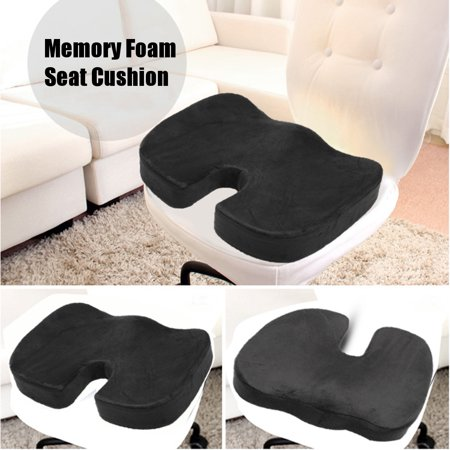 Premium Memory Foam Travel Seat Cushion Wheelchairs, Transport Chairs Home Office Travel Chair for Orthopedic Coccyx, Tailbone, Lower Back Support & Pain Relief Washable (Best Seat Cushion For Lower Back Pain)