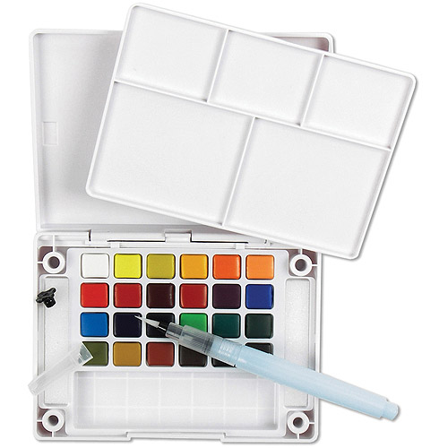 Koi XNCW-24N, 24 Assorted Watercolors Field Sketch Set with Brush