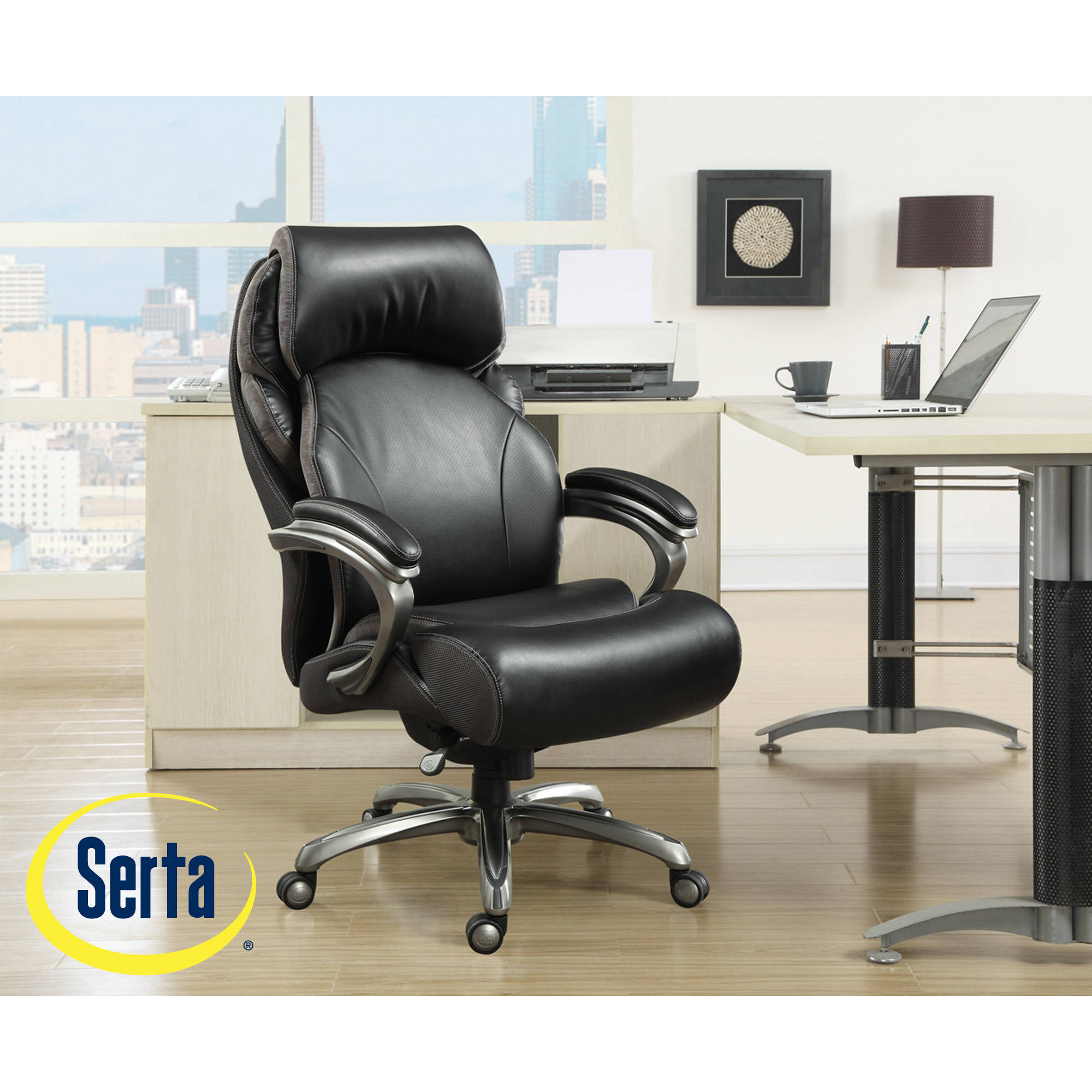 Serta Fabric Multifunction Managers Office Chair Serta Fabric