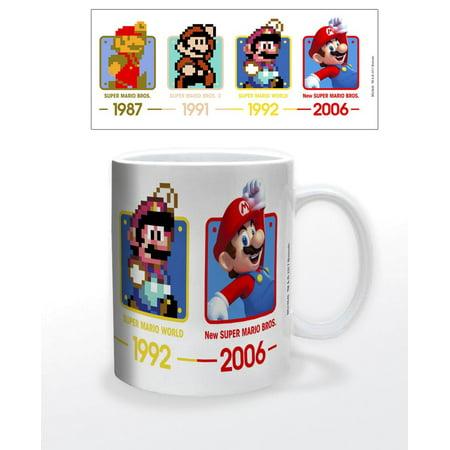 Super Mario Bros. Through The Years Nintendo 11oz. Coffee (Paper Mario The Thousand Year Door All Recipes)
