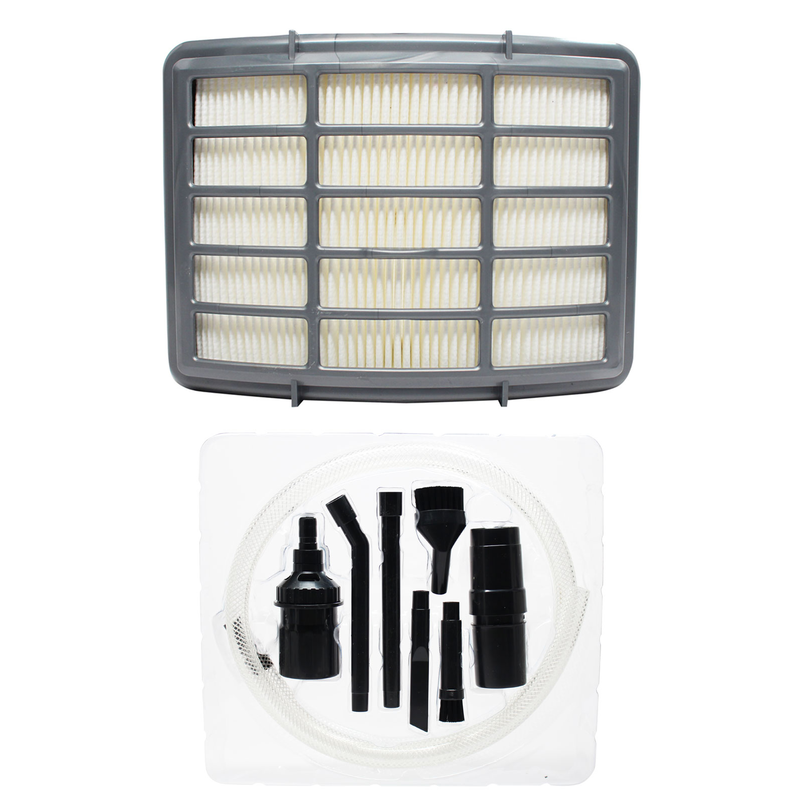 Replacement Shark Shark Navigator Lift-Away NV350 Vacuum HEPA Filter with 7-Piece Micro Vacuum Attachment Kit - Compatible Shark XHF350 HEPA Filter