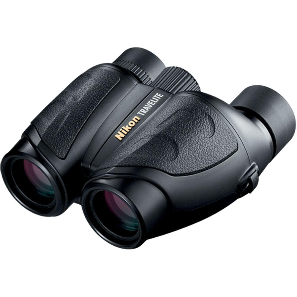 Nikon Compact Travelite 10x25 Porro Prism Rubber Armored Binoculars, Matte by Nikon