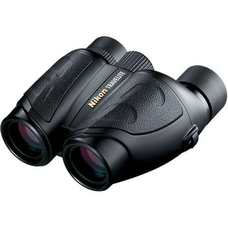 Nikon Compact Travelite 10x25 Porro Prism Rubber Armored Binoculars, Matte