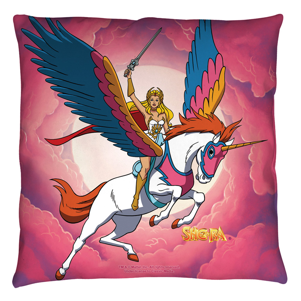 She Ra Clouds Throw Pillow White 26X26