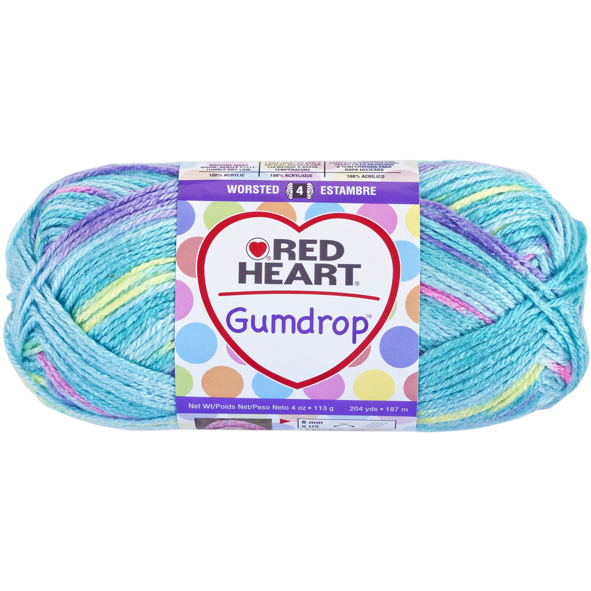 Coats Yarn Red Heart Gumdrop Yarn, Smoothie Multi-Colored