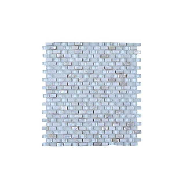 Legion Furniture MS-MIXED29 Mosaic Mix with Stone Wall Tile, Off White