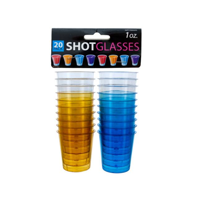 Bulk Buys OC101-96 Plastic Shot Glasses by Bulk Buys