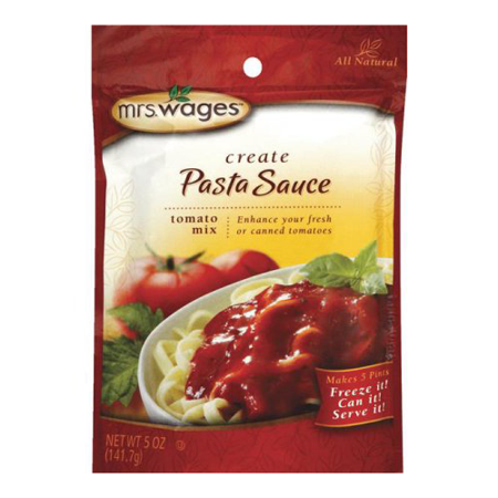 Mrs. Wages Create Tomato Pasta Sauce Mix, 5 Ounce Packet