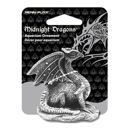 Mini Dragon Aquarium Ornament, Midnight Dragons Collectible Aquarium Ornament By Midnight (Dragon King Crown Betta Fish For Sale)