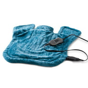 Sunbeam XL Renue Tension Relieving Heat Therapy Neck and Shoulder Wrap Heating Pad, Blue